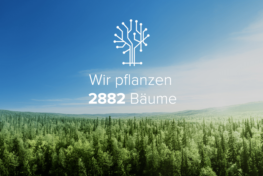 Wir haben gemeinsam 2882 Bäume gepflanzt
