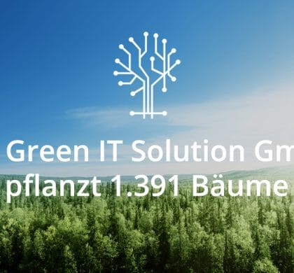 2017 gepflanzte Bäume der Green IT Solution GmbH